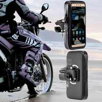 360 rotatif étanche sac Support de téléphone pour moto Support Clip Support de montage pour iphone 8 7 Plus 6 S9 S8 plus soporte movil moto