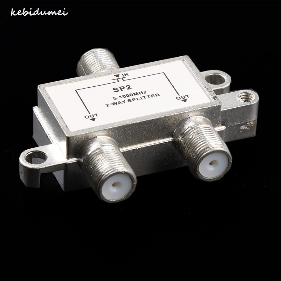 Kebidumei 2 Way Tv Switch Satellite Aerial Splitter Antenna Cable 5 1000mhz F Type Distributor