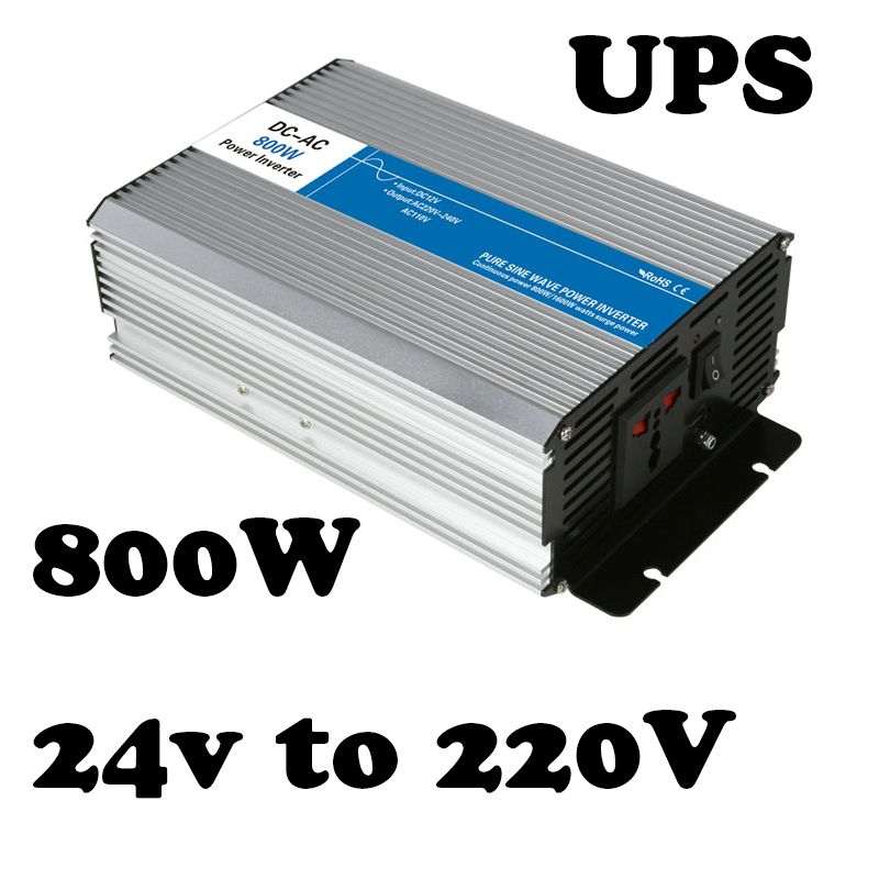 Подробнее о 800w 24vdc to ac 220v UPS inverters off grid solar inverter voltage converter with charger and UPS AG800-24-220-A 1200w 48v to 220v input industrial inverters solar off grid inverter manufacturers inverter 220v power inverter with 48vdc
