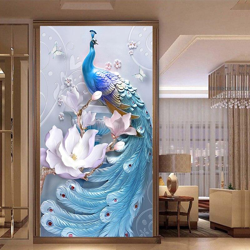 DIY Diamond Embroidery 5D Animal Peacock Diamond Painting Diamond Mosaic Home Decoration Christmas Gift