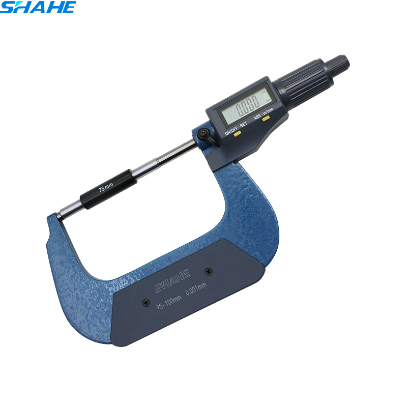 digital micrometer 0.001 mm electronic digital micrometer digital micron gauge micrometer 75-100mm digital micrometer for external measurements 0 25 mm 0 001mm micrometer electronic acute electronic single point micrometer