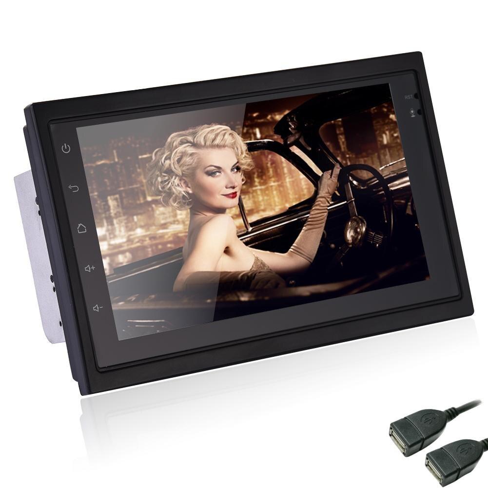 Pour Universa ultra-mince 7 pouces 2DIN Bluetooth WIFI navigateur Radio MP5 lecteur Audio GPS caméra de recul RDS Quad-core Android6.0
