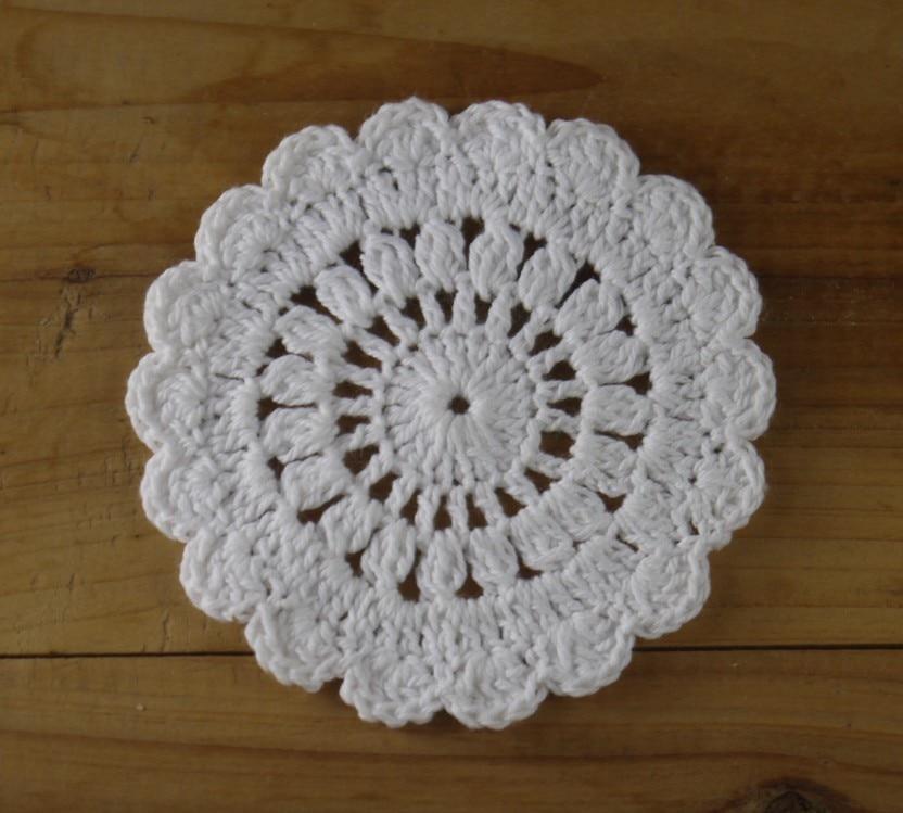 Vintage Crochet Cup Mats Round Motif Doilies Crochet Applique