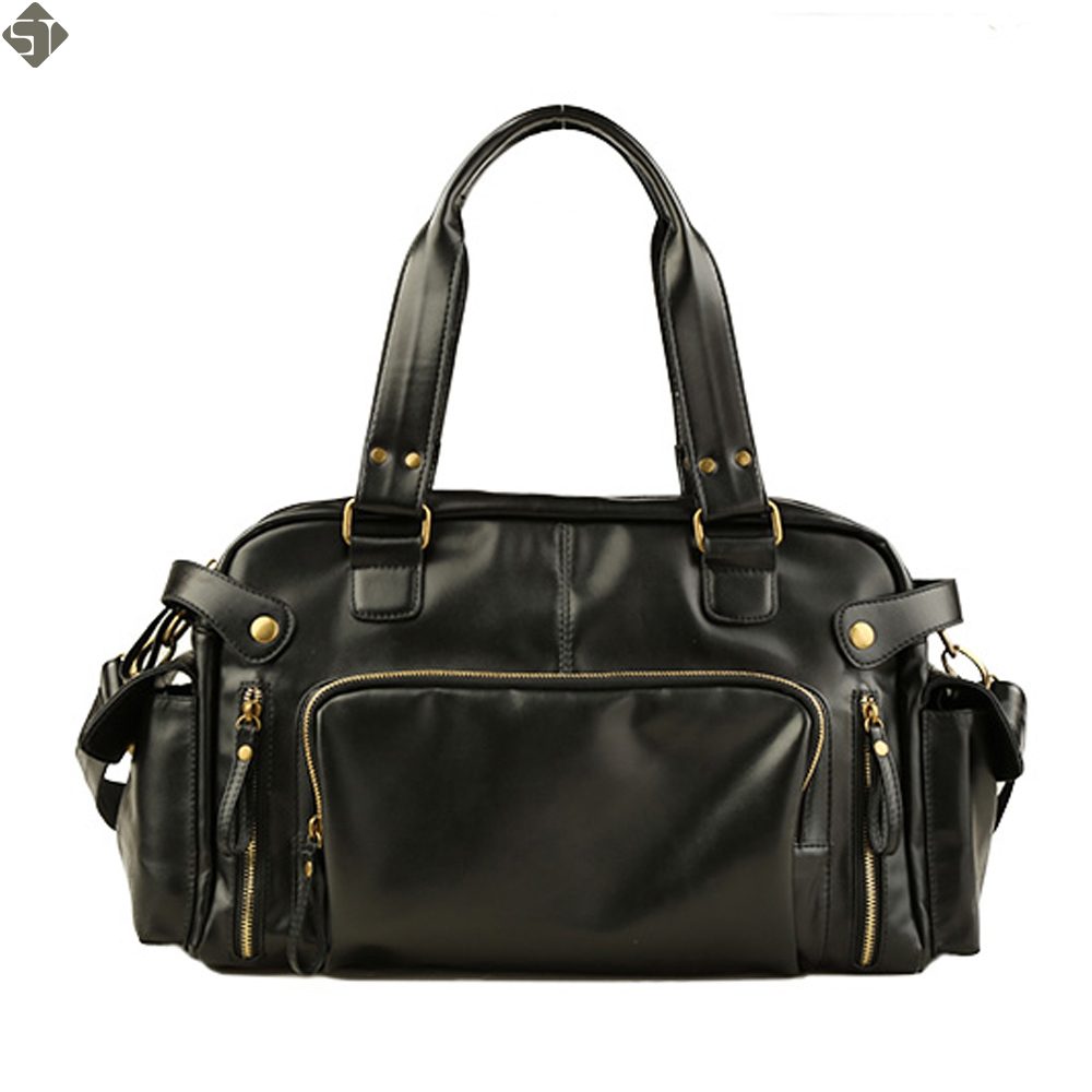Top Leather Men travel bag large High quality duffel bag Business handhag vintage men s crossbody