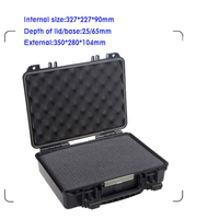 IP67 waterproof shockproof black compressive durable toolbox with full cubes foam inserts