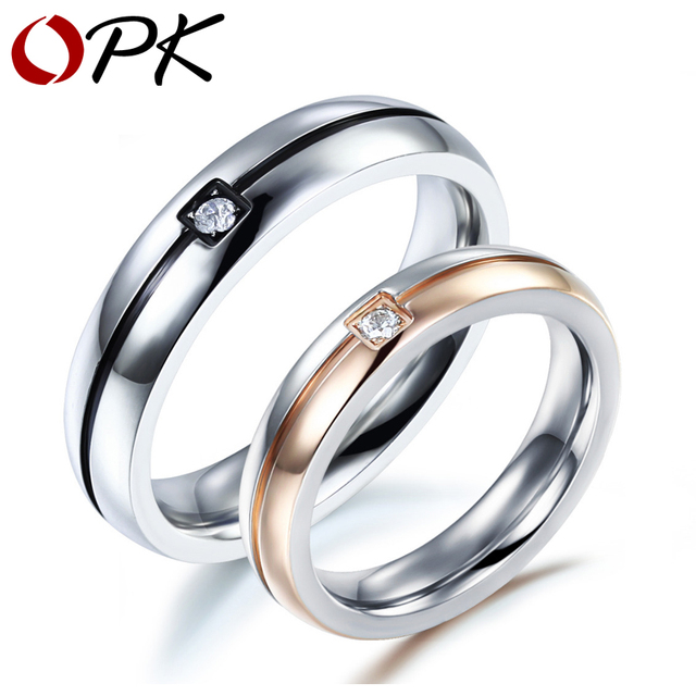 Aliexpress Buy OPK Classical Fashion Lovers Wedding Rings Simple D