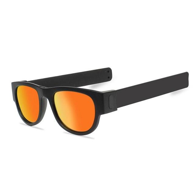 721b7e63f0 Slap Sunglasses Polarized Women Slappable Bracelet Sun Glasses for Men  Wristband Colorful Fashion Mirror Folding Shades