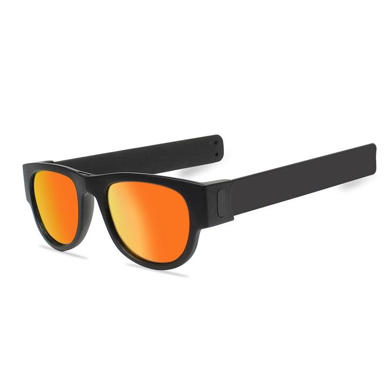 Slap gafas de sol polarizadas mujeres Slappable pulsera gafas de sol para hombres Wristband colorido moda plegable espejo sombras