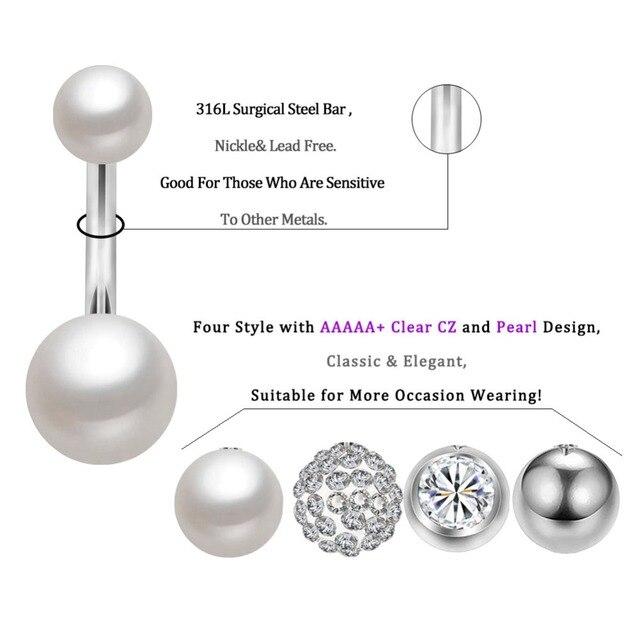 Боди Панк 4 шт/компл кольца на пупок ювелирные изделия Пирсинг