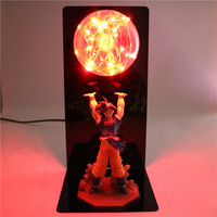 New Dragon Ball Z Action Figures Goku Son Figurine Collectible DIY Anime Model Baby LED Luminous Toy Christmas Gifts For Kids