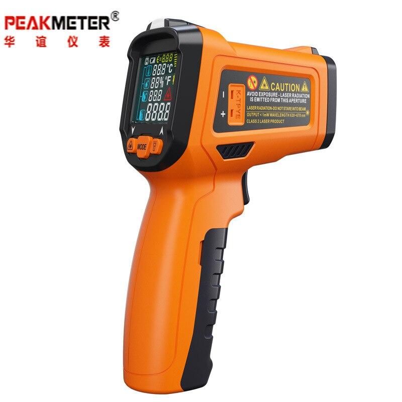 PEAKMETER PM6530D LCD affichage thermomètre infrarouge portatif-50 ~ 800 avec humidité et Point de rosée IRT K type lumière UV ambiante