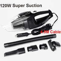 Auto Zubehör Tragbare 120 watt 12 v Auto Staubsauger Handheld Mini Super Saug Nassen Und Trockenen Dual Verwenden Vakuum reiniger für Auto