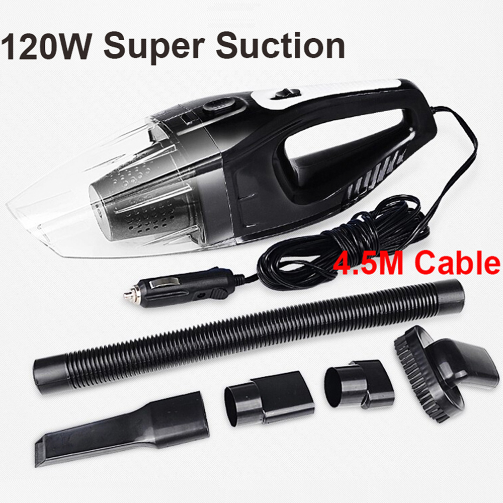 Auto Accessories Portable 120W 12V Car Vacuum Cleaner Handheld Mini Super Suction Wet And Dry Dual Use Vaccum Cleaner for Car цена 2017