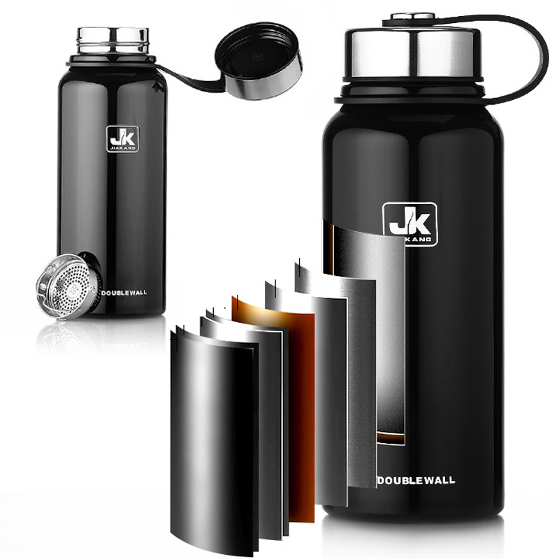 big capacity 800ml/1500ml Double Wall 304 Stainless Steel JK Thermos Cups Mugs Thermal Bottle Fashion Tumbler Vacuum Flask feature phone