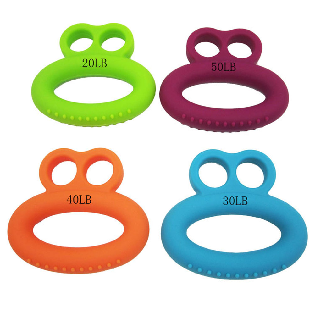 4pcs Silicone Hand Grip Strengthener Resistance Rehabilitation Silicone Rings Physical Therapy Forearm Exerciser Workout Gripper image