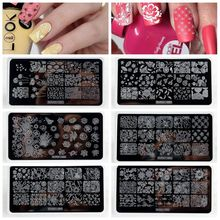 1Pcs 2018 New Arrival 6.5*12.5cm Stamping Nail Art Image Plates DIY Template Polish 3D Stencils ZJOY-01
