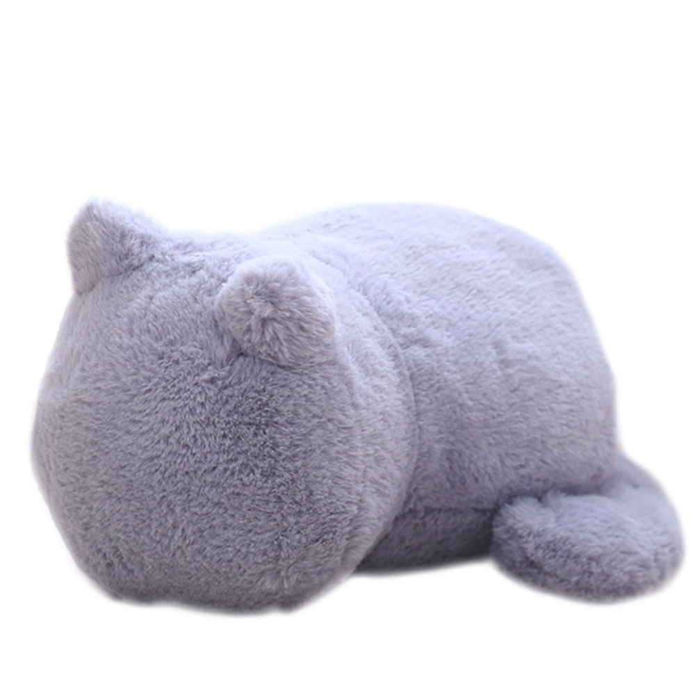 Мягкая игрушечная кошка хлопок спальня игрушки для домашних животных Мягкая кукла Прямая - Цвет: gray