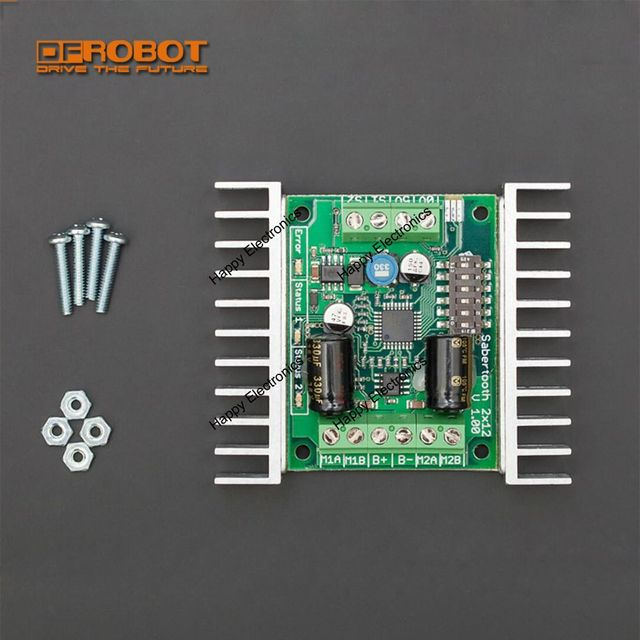 Sabertooth Dual 12a Dc Motor Driver 18 24v Synchronous Regenerative Thermal Overcur Protection