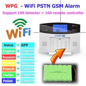 Image 5 - WiFi PSTN GSM מעורר מערכת ערכת בית מעורר מערכת 433MHz אלחוטי וקווית אזעקות מארח דלת פתוח חיישן אזעקות אפליקציה מקלדת מסך
