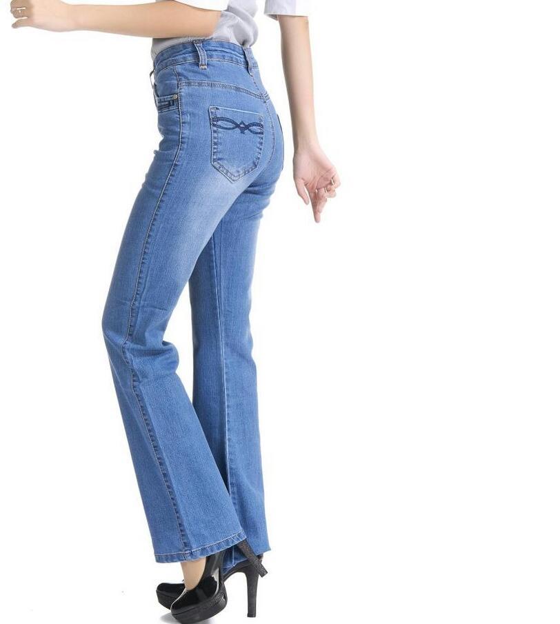 2017 High Waist Jeans Women casual Bell Bottom Jeans Female Slim Elastic Flare Pants women denim pants Plus Size 7XL S733 2017 new jeans women spring pants high waist thin slim elastic waist pencil pants fashion denim trousers 3 color plus size