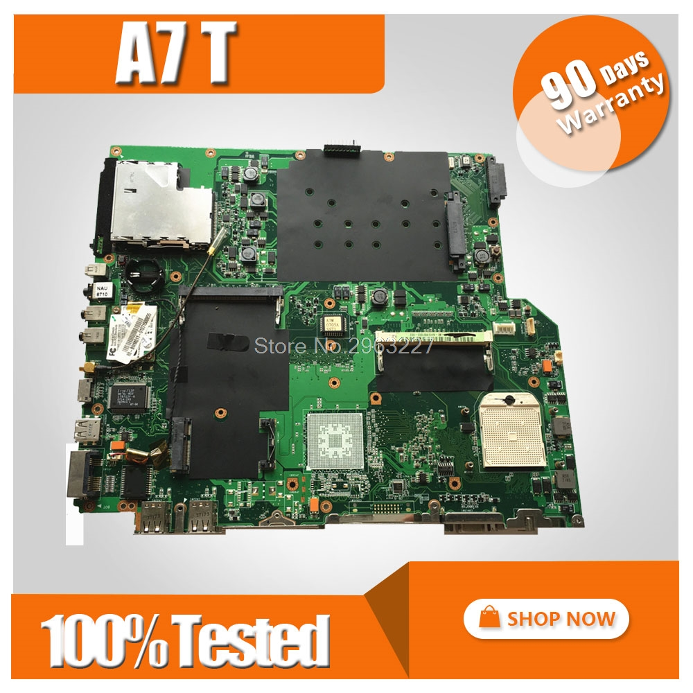 Original For Asus A7T Laptop motherboard A7T A7TC MAIN BOARD REV:3.0 PN:08G27AT0030J 100% Tested mainboardOriginal For Asus A7T Laptop motherboard A7T A7TC MAIN BOARD REV:3.0 PN:08G27AT0030J 100% Tested mainboard