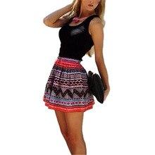 Jinggton oval Frauen Beiläufige Kurze Sleeveless Partei-cocktail Short Mini Kleid