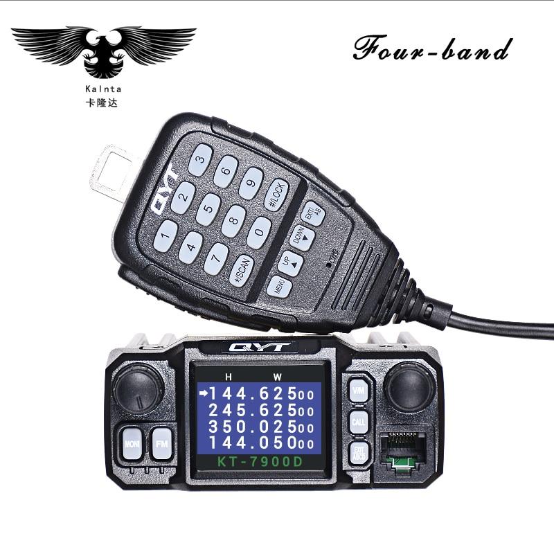 QYT KT-7900D 25 W Quad Band Mobile Radio Walkie Talkie 144/220/350/440 MHZ 4 Bande Ricetrasmettitore FM AGGIORNAMENTO di QYT KT8900 Autoradio