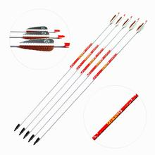 High Proportion White Carbon Arrows Spine 500 för jaktstöd 28/29 / 30Inch Archery Arrow Shaft With TPU Vanes 6PK