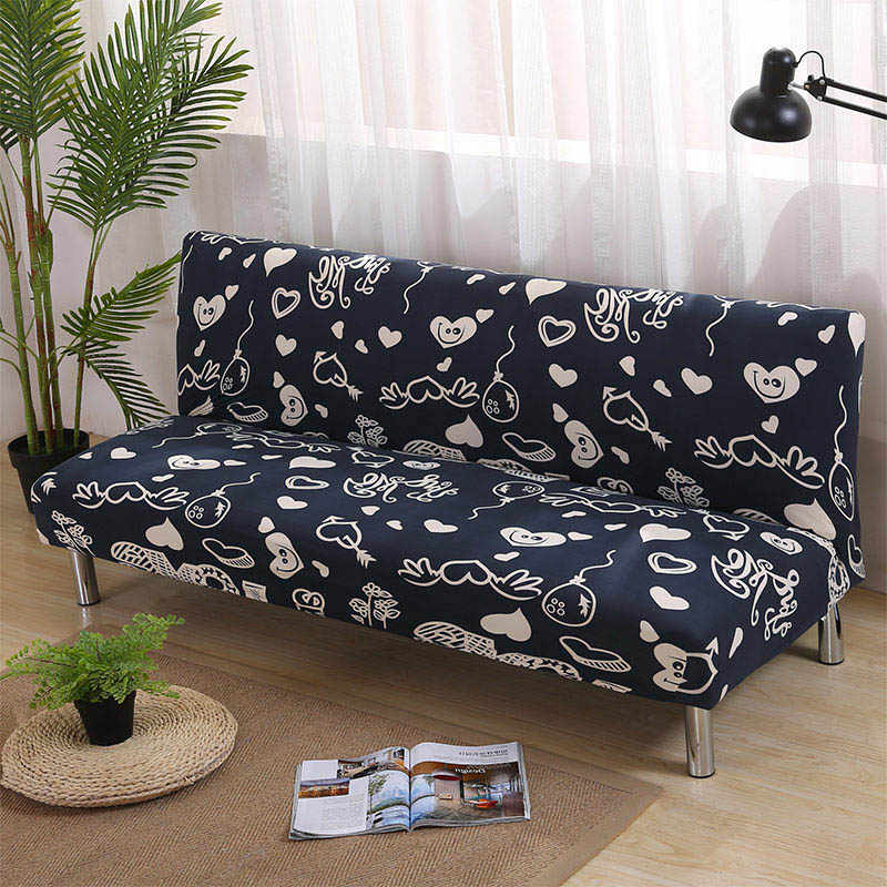 Universal Armless Sofa Cover Stretch Couches sofa Big Elastic Gray Sofa  Covers For Living Room Spandex funda sofa Bed Cover 1PC