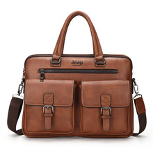 High-quality Men Briefcase Bag High Quality Business Famous Brand Leather Shoulder Messenger Bags Office Handbag 14 inch Laptop