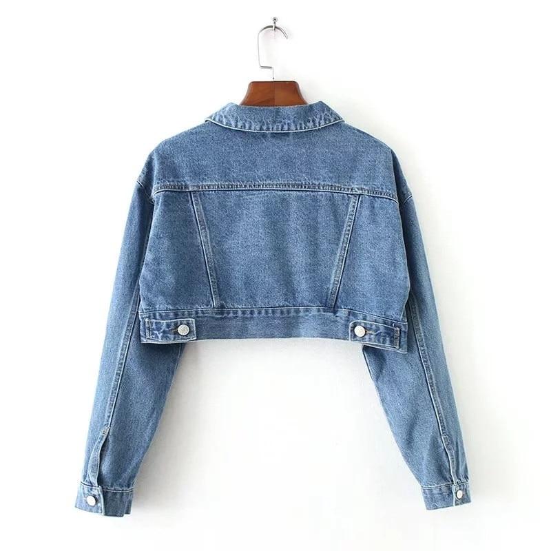 WSYORE Fashion European Short Denim Jacket 2018 New Spring and Autumn Single Breasted Long Sleeve Denim Jackets and Coats NS398 1