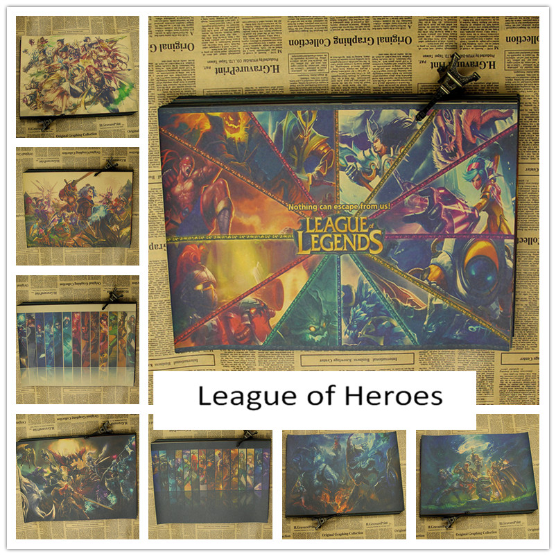 Heroes league poster mural wallpaper lol dark internet for Poster mural zen deco