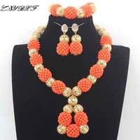 Real Coral Pendant Orange Necklace Earrings Set Elegant Women African Coral Beads Necklace Jewelry Set Beads for Wedding L00011