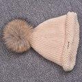 Осенью и зимой Плюс бархат теплой шерсти шляпа женская Рука обжимной колпачок Заостренными Вязаная шапка Норки волос Hairball Шляпы Шапочки женщина