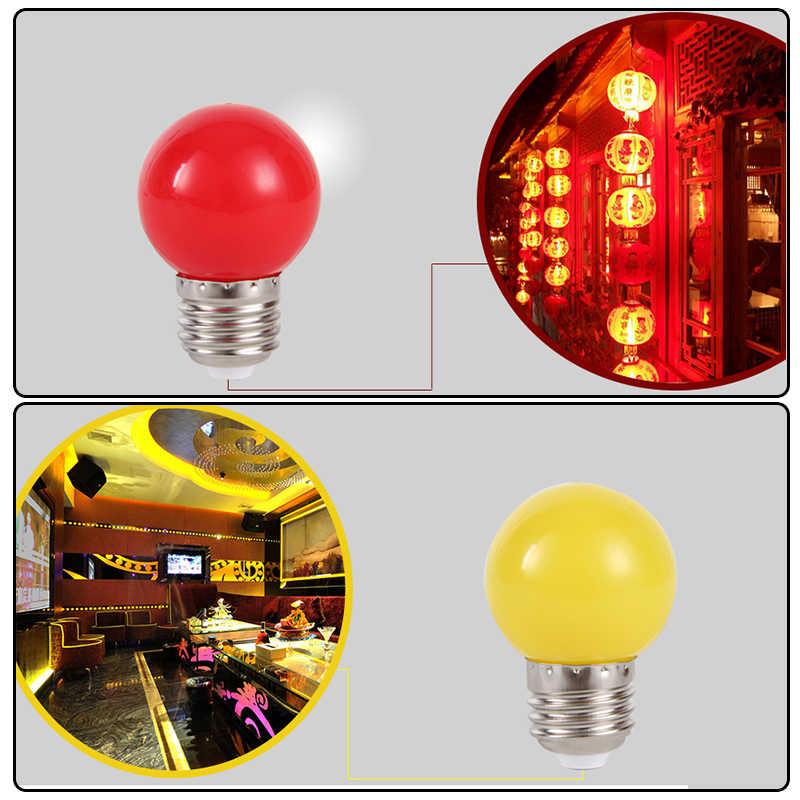 หลอดไฟที่มีสีสันหลอดไฟ Led E27 โคมไฟ Mutil สีหลอดไฟสีขาวสีเขียวสีฟ้าสีแดงสีเหลืองสีส้มสีชมพูตกแต่งบ้านปาร์ตี้บาร์