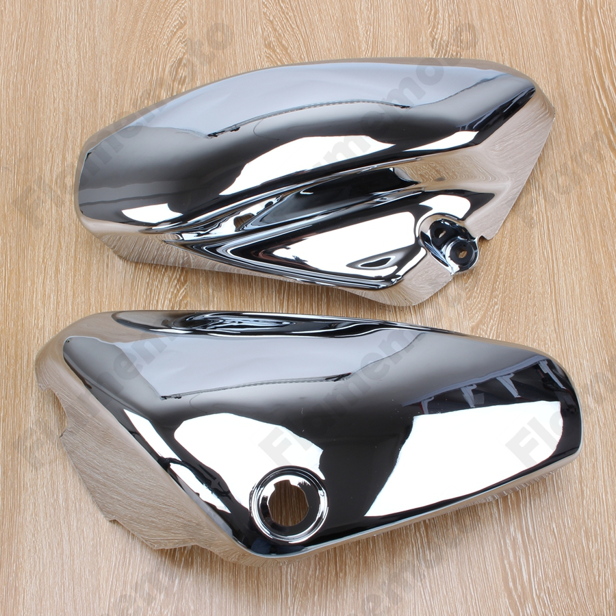 Chrome Left /& Right Battery Side Covers for Suzuki C50 VL800 Volusia VL 800 Pair