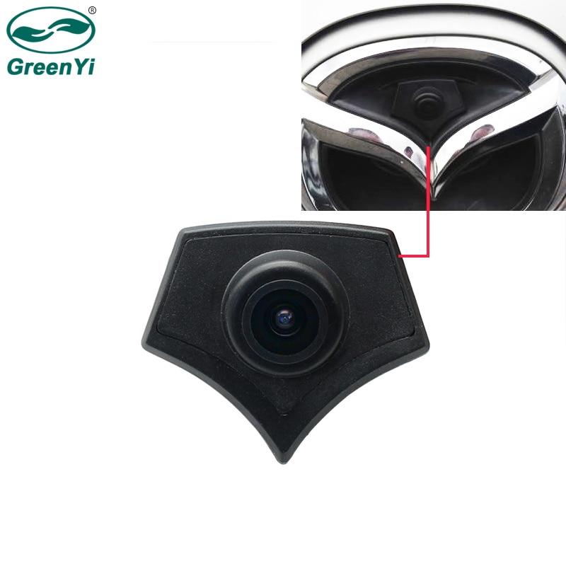 GreenYi автомобиля вид спереди Логотип Камера для Mazda 2 3 5 6 CX-7 CX-9 CX-5 8 Парковочные системы Системы