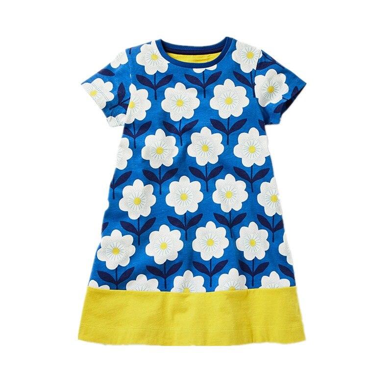 Retail Girls Dress Summer Costume for Kids Clothing  Brand Children Rainbow Dresses Girls Clothes Princess Dress JM6753