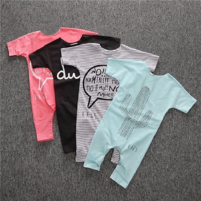 667fd88dd New Born Baby boys Clothes Summer Short Sleevele Girls Footed Rompers  Cotton Fashion baby girls Romper 0-2T Infant baby Jumpsuit