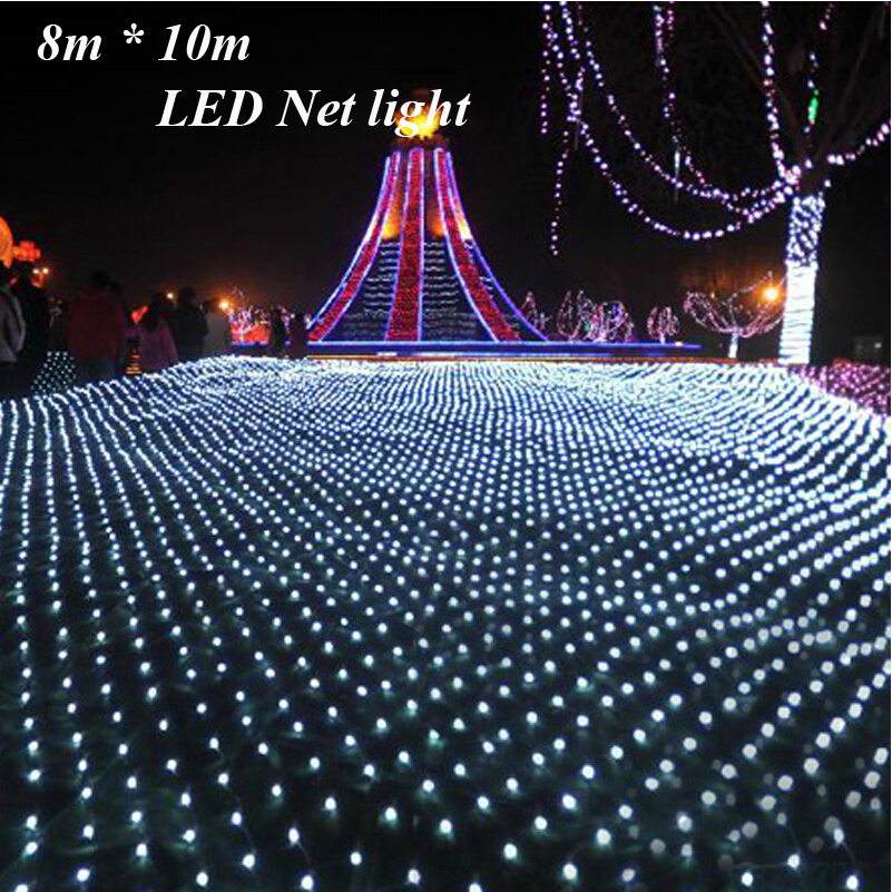 fairy 810m 2600 led net garland string light christmas holiday party garden square luminaria decoration lamps lighting outdoor in led string from lights
