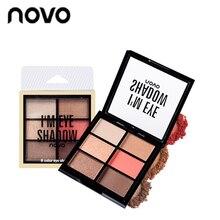 NOVO brand 6color Matte Eye Shadow Silky Soft Fashion Diamond Flash Particles ey