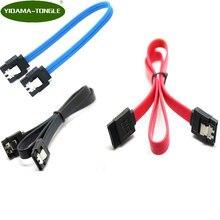Super velocidade 30 cm 50 cm em linha reta 90 graus ângulo 3.0 6 gb/s cabo sata azul vermelho preto sataiii cabos para ssd hd hdd