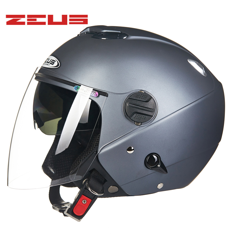 07b2aa6b ZEUS Motorcycle Helmet double visor motorbike Helmet Retro Vintage casque  moto Half face Motocross helmets-in Helmets from Automobiles & Motorcycles  on ...