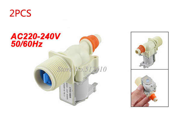 "New And Original 0.43"" Hose Outlet AC 220-240V 50/60Hz Water Inlet Solenoid Valve for Sumsung Washing Machine 2PCS/lot"