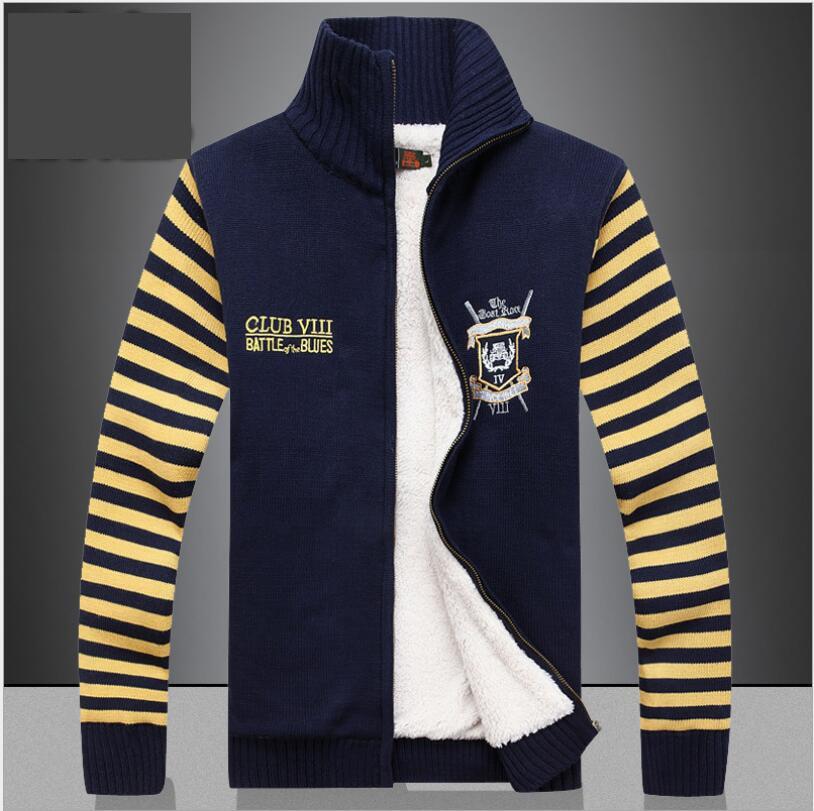 AnpassungsfäHig Neue Ankunft Casual Sweatercoat Hohe Qualtiy Hersteller Großhandel Preis Männer Dicken Plus Samt Winter Mode Größe M-3xl