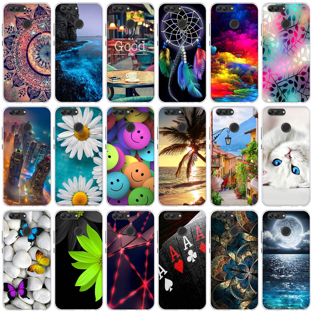 Phone Case For Huawei Nova 2 Case 5.0'' Peainted Cute Silicone Soft TPU Cover For Huawei Nova 2 Fundas For Huawei Nova 2 Case