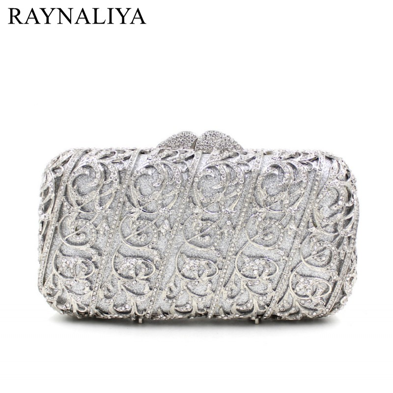Two Side Diamond Crystal Evening Bags Fashion Clutch Handbag Hot Styling Day Clutches Lady Wedding Woman Bag New SMYZH-F0279