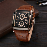 Top Brand Luxury Fashion Men Watch Casual Watches Men Leather Men Wristwatches Quartz Watch With Date