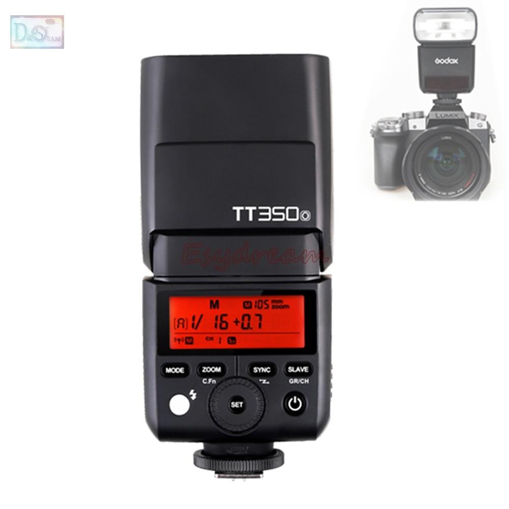 Godox TT350O 2.4G HSS TTL 1/8000s GN36 Mini Flash Speedlite for Olympus Panasonic OM-D E-M10 E-M5 Mark II E-M1 PEN-F GX85 G7 G85 цены