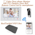 Wireless WiFi IP Video Doorphone Metal Waterproof HD Camera Video Doorbell Intercom System with 7 inch LCD Monitor 800TVL